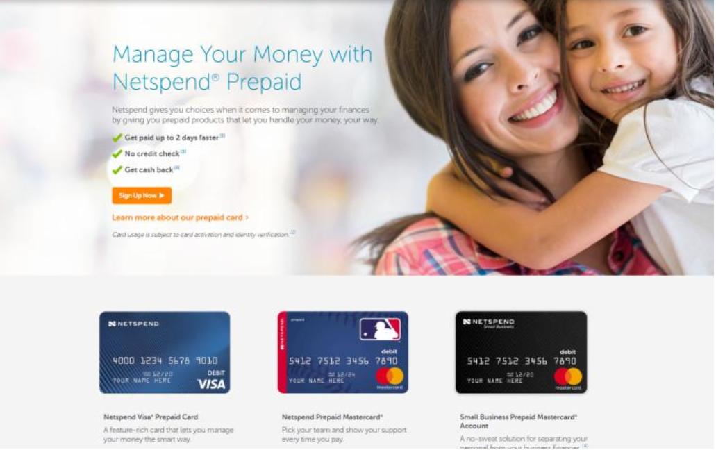 Liste des meilleurs fournisseurs de cartes de crédit virtuelles gratuites en 2019, Netspend